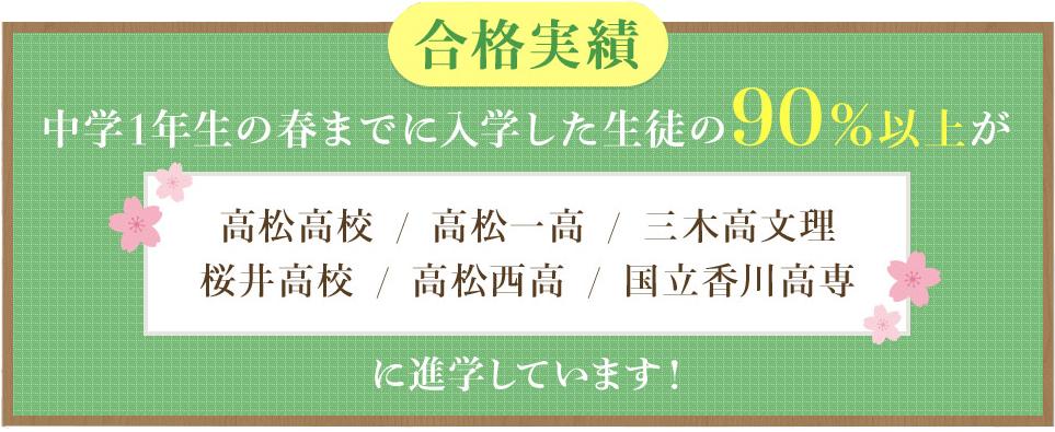 香川県高松市栗林町にある学習塾の合格実績