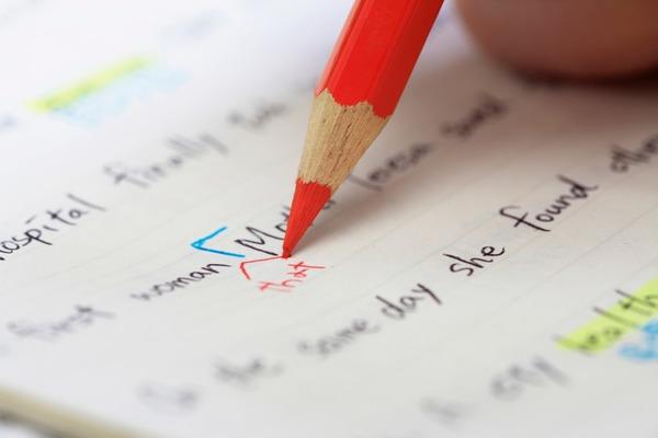 勉強の字はコンパクトにスピーディーに書きましょう